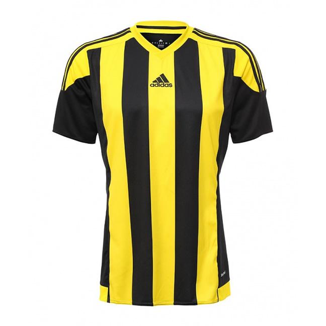federación Sustancial Al frente  Adidas Striped 15 Short Sleeve Jersey - Black / Yellow